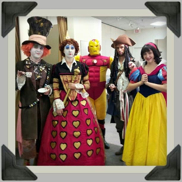 Characters from Chameleon Entertainment and Princess Snow White at Northland Village Mall