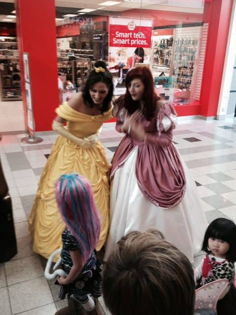 Princesses at Northland Village Mall Halloween Party in Calgary