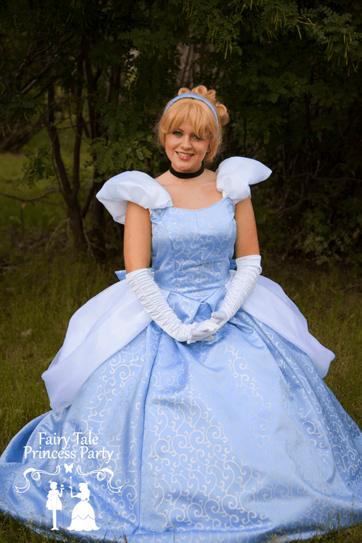 The Cinder Princess sitting in a Calgary forest waiting to meet boys and girls