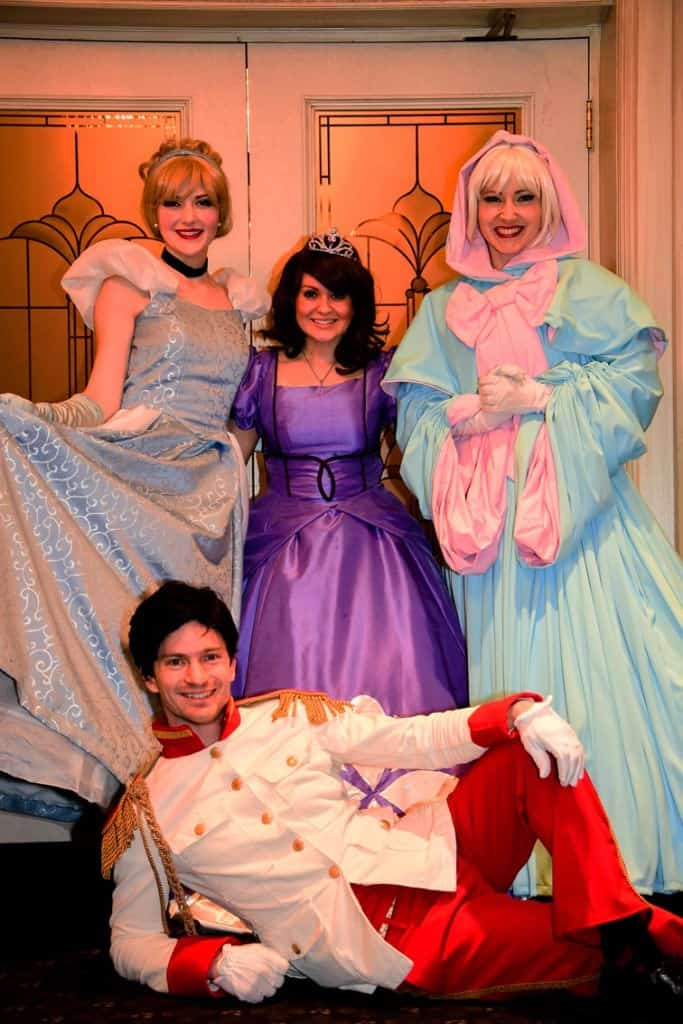 Princess Characters and Prince at the Rainbow Society Daddy's Little Sweetheart Ball at the Carriage House Inn