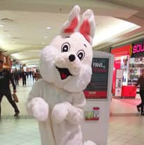 Easter Bunny at Calgary's North Hill Mall
