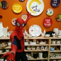Calgary's Spider Hero was delighted to meet all of his superhero fans