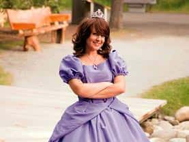 The Purple Princess has a lovely ballgown that little girls love to have at their Calgary birthday party.