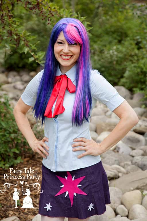 Twilight Pony loves equestrian games and playing with her fellow ponies and horses that value friendship