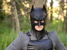 Closeup of the Calgary Bat Hero