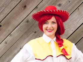 Toy Cowgirl Jess knows how to entertain kids at Calgary Stampede events!